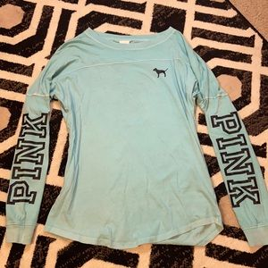 Victoria's Secret turquoise backless long sleeve